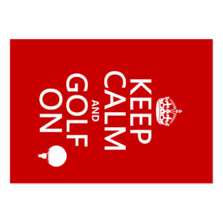 Keep Calm and Golf On - available in all colors Business Card
