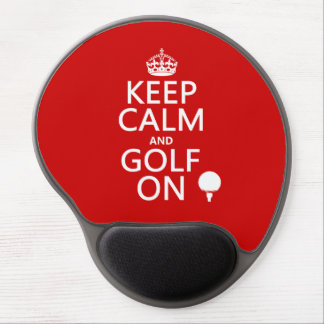 Keep Calm and Golf On - available in all colors Gel Mouse Pad