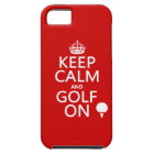 Keep Calm and Golf On - available in all colors iPhone SE/5/5s Case