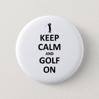 Keep calm and golf on button