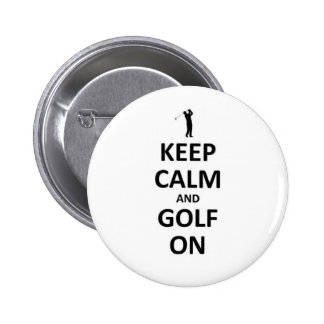 Keep calm and golf on pin