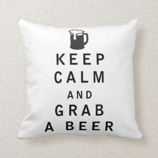 Keep Calm and Grab a Beer Pillows