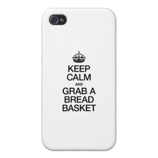KEEP CALM AND GRAB A BREAD BASKET iPhone 4/4S COVER