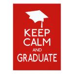 Keep Calm And Graduate Card