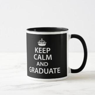 Keep Calm and Graduate Funny Graduation Mug