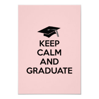 """Keep Calm and Graduate"" Graduation Announcements"
