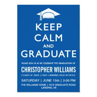 Keep Calm and Graduate Invitation