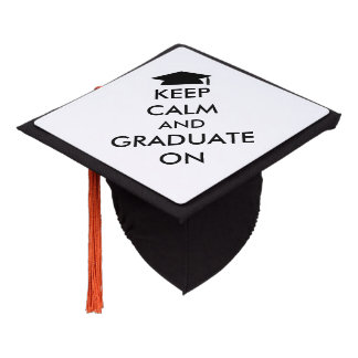 """Keep Calm and Graduate On"" Tassel Topper"