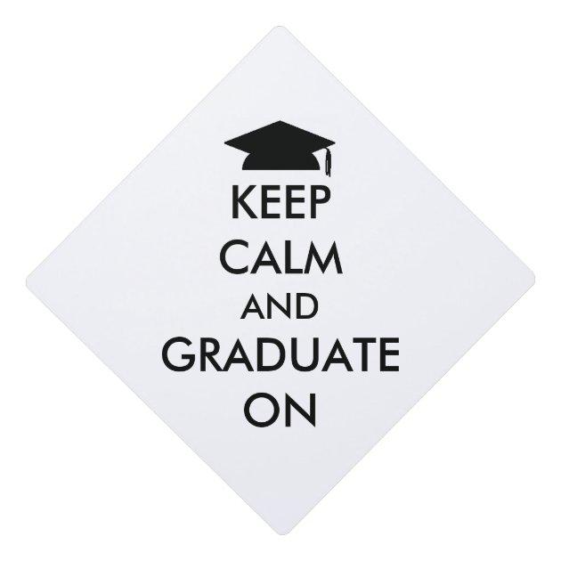 u0026quot keep calm and graduate on u0026quot  tassel topper