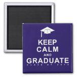 Keep Calm and Graduate Refrigerator Magnet