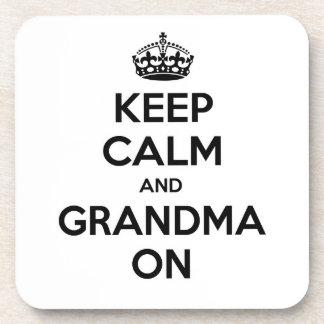 Keep Calm and Grandma On Coasters