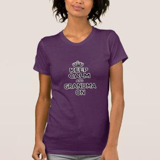 Keep Calm and Grandma On Tee Shirt