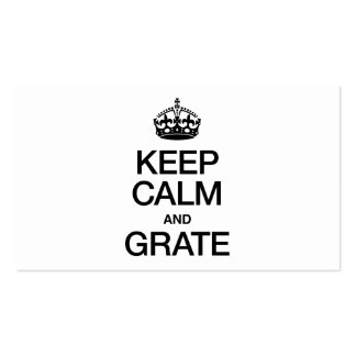 KEEP CALM AND GRATE BUSINESS CARD TEMPLATES