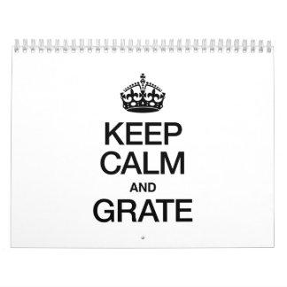 KEEP CALM AND GRATE CALENDAR