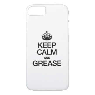 KEEP CALM AND GREASE iPhone 8/7 CASE