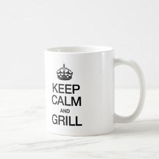 KEEP CALM AND GRILL COFFEE MUG