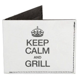 KEEP CALM AND GRILL TYVEK® BILLFOLD WALLET