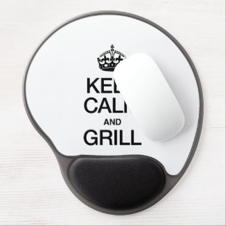 KEEP CALM AND GRILL GEL MOUSE PAD