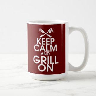Keep Calm and Grill On Mug