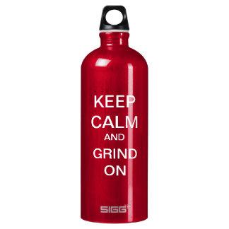 KEEP CALM and GRIND ON Custom (Large) SIGG Traveler 1.0L Water Bottle
