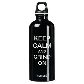 KEEP CALM and GRIND ON Custom SIGG Traveler 0.6L Water Bottle