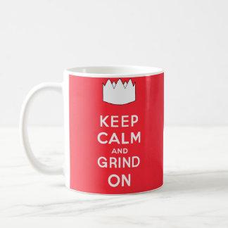 Keep Calm and Grind On Classic White Coffee Mug