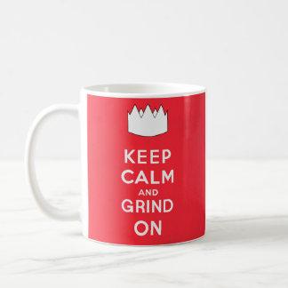Keep Calm and Grind On Coffee Mugs