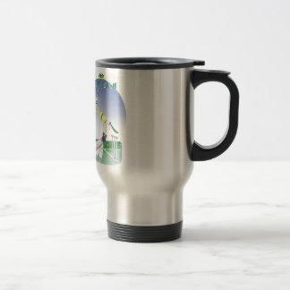 keep calm and grounded, tony fernandes travel mug