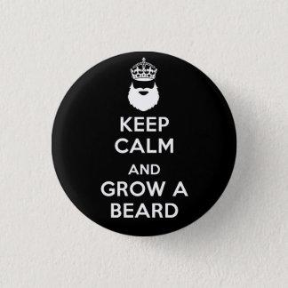 Keep Calm and Grow A Beard Button