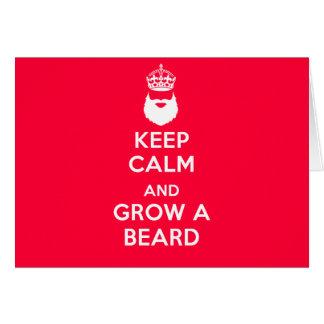 Keep Calm and Grow A Beard Card
