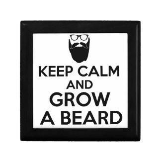 Keep Calm and Grow a Beard Jewelry Box