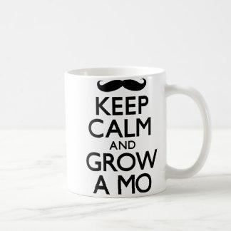 Keep Calm and Grow A Mo (Carry On) Coffee Mug