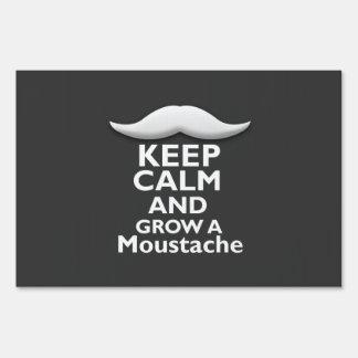 Keep Calm and Grow a Moustache Sign
