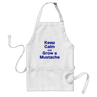 Keep Calm and Grow a Mustache Aprons
