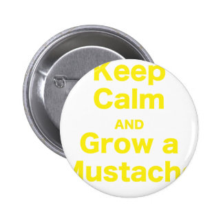 Keep Calm and Grow a Mustache Pin