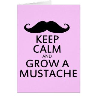 Keep Calm and Grow a Mustache Card