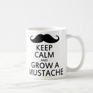 Keep Calm and Grow a Mustache Classic White Coffee Mug
