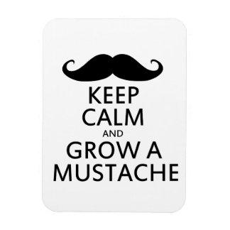 Keep Calm and Grow a Mustache Magnet