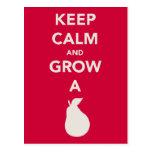 """Keep Calm and Grow a """"Pear"""" Post Card"""