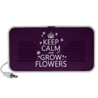 Keep Calm and Grow Flowers (In all colors) Mp3 Speakers