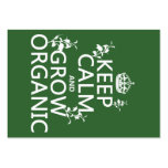 Keep Calm and Grow Organic (all colors) Business Card Template