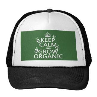 Keep Calm and Grow Organic all colors Mesh Hats