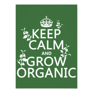 Keep Calm and Grow Organic (all colors) Invite