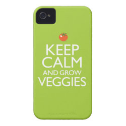 Case-Mate iPhone 4 Barely There Universal Case with Keep Calm and Grow Veggies design