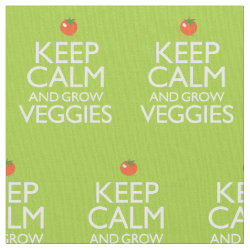 Pima Cotton Fabric (54 with Keep Calm and Grow Veggies design