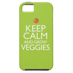 Case-Mate Vibe iPhone 5 Case with Keep Calm and Grow Veggies design
