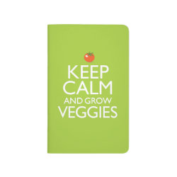 Pocket Journal with Keep Calm and Grow Veggies design