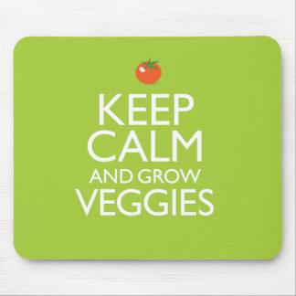 Keep Calm and Grow Veggies Mouse Pad