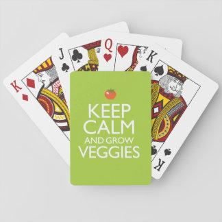 Keep Calm and Grow Veggies Playing Cards