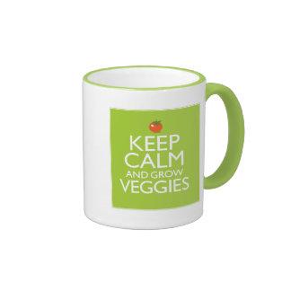 Keep Calm and Grow Veggies Ringer Mug